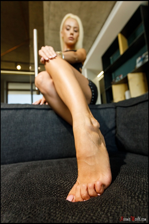 Noemi's World - Rafaela - This blondie has some nice high arches! - Femdom Pictures