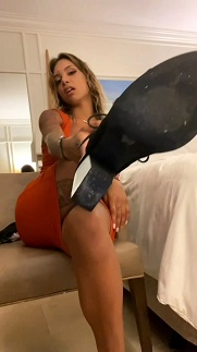 Goddess Naiomi - Caged on the vacation youre funding - Chastity