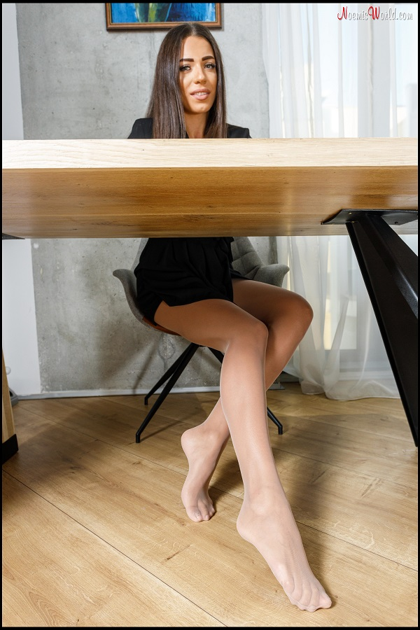 Noemi's World - Adele - Perfect model's soles in sheer pantyhose - Femdom Pictures
