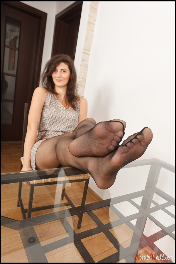 Noemi's World - Elvina - Her soles look amazing covered in black sheer nylons - Femdom Pictures