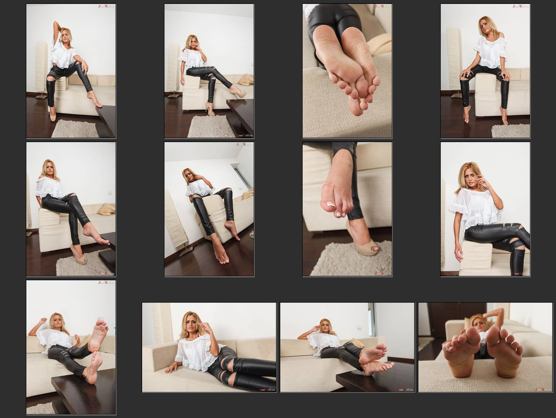 Noemi's World - Madeline - You should taste her french pedicured toes! - Femdom Pictures
