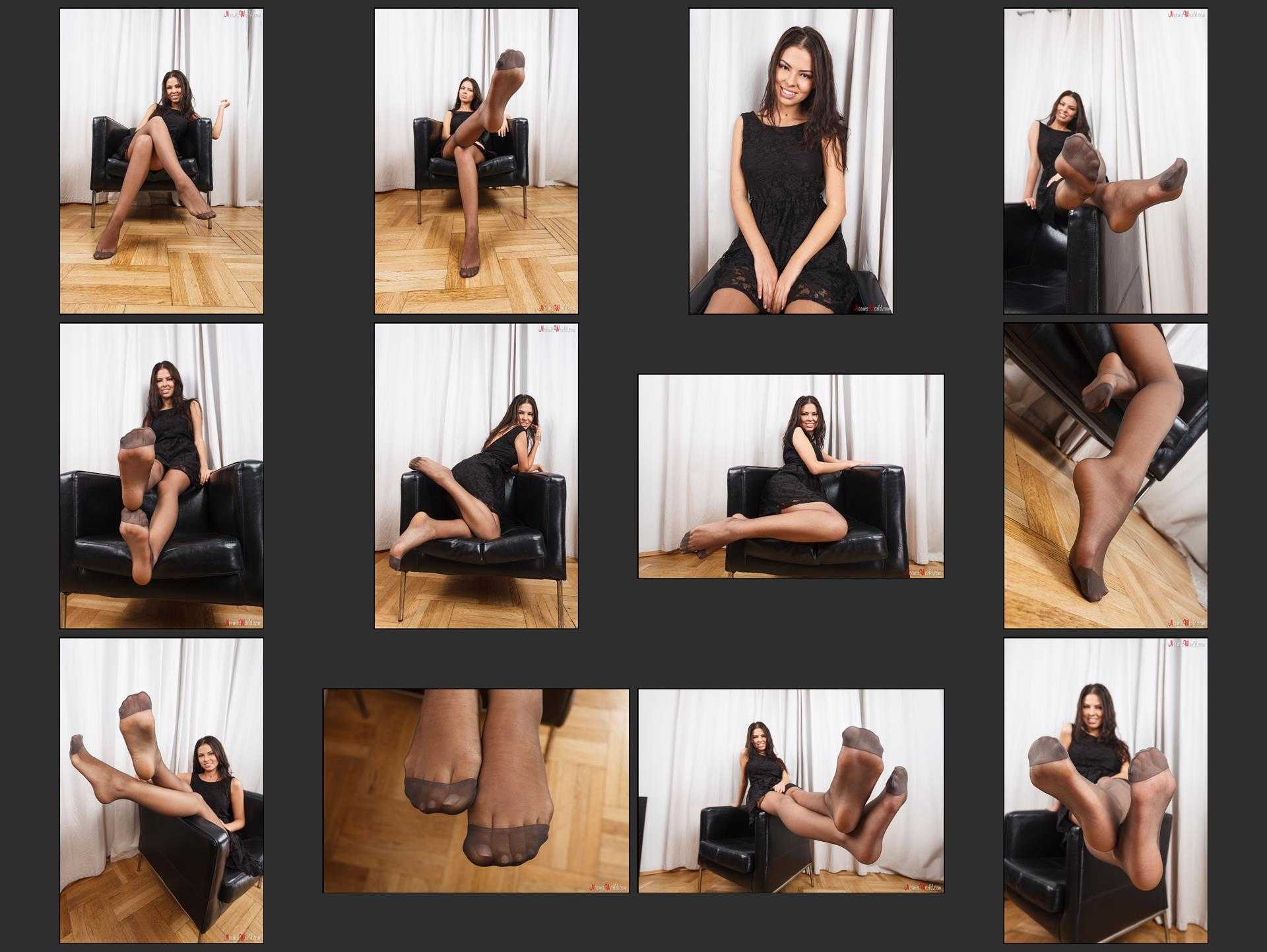 Noemi's World - Nerissa - You have to feel the silky touch of her feet in pantyhose - Femdom Pictures