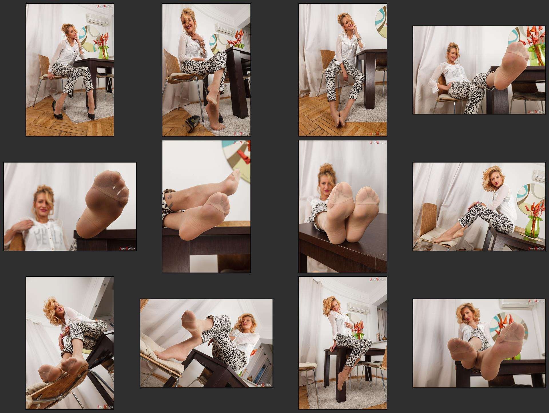 Noemi's World - Pearl - So you love to sniff feet in pantyhose? - Femdom Pictures
